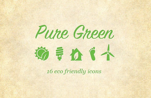Pure Green Eco Friendly Icons