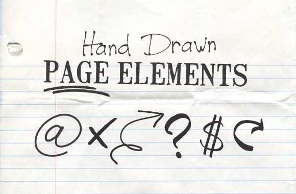 Hand Drawn Page Elements