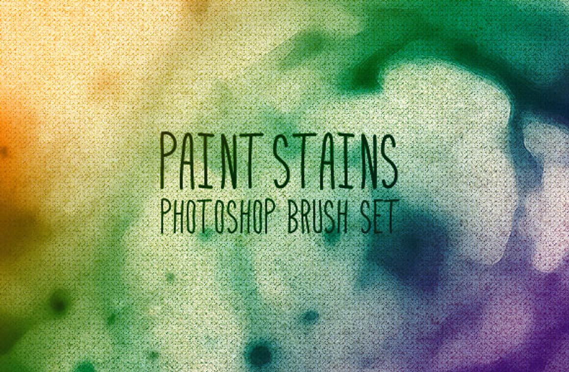 Paint Stains Photoshop Brush Set