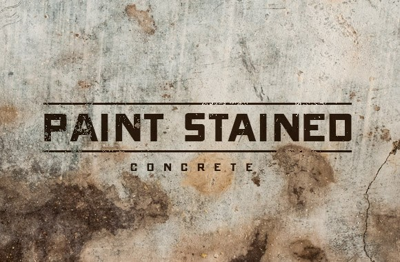 Paint Stained Concrete Brushes and Textures