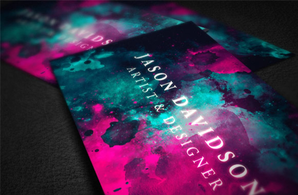 Painted Space Business Card Template