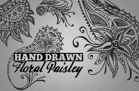 Hand Drawn Paisley Patterns Vol2