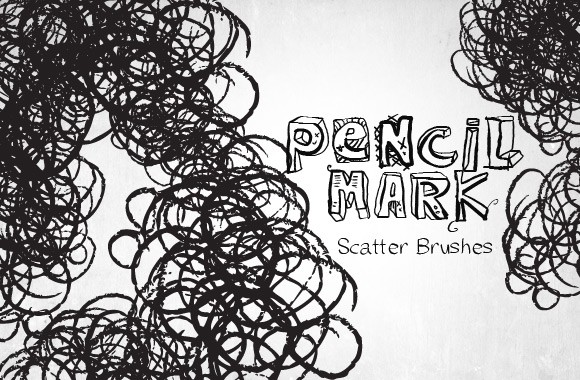 Pencil Lead Photoshop Brush Set