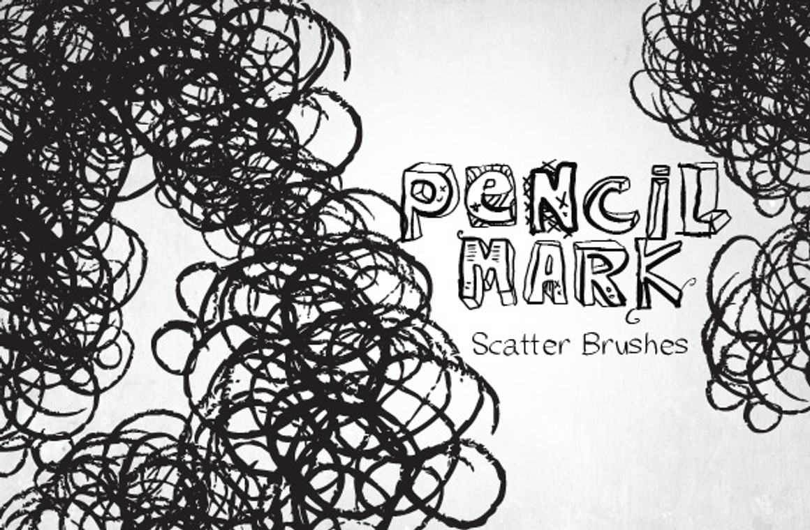 Pencil Brush Presets for Photoshop