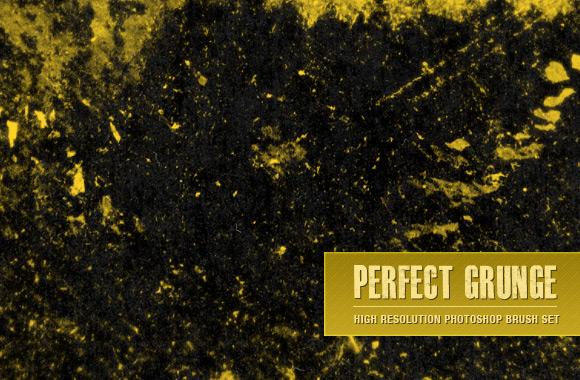 Perfect Grunge Photoshop Brush Set