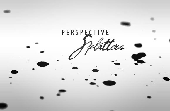 Perspective Splatters Brush Set