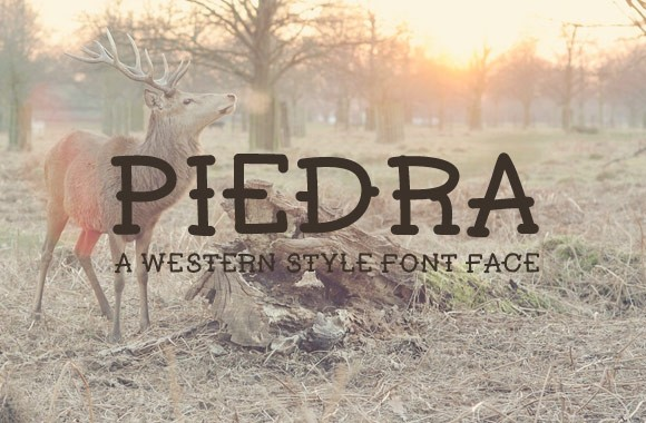 Piedra - Hand Drawn Western Font