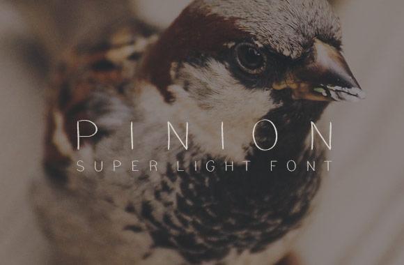 Pinion Super Light Font