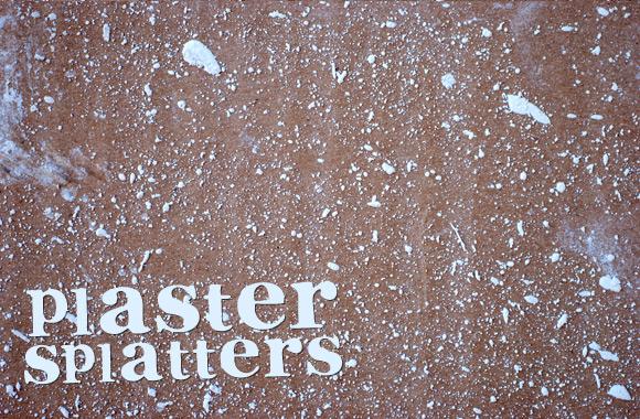 Plaster Splatters - Brushes, Vectors & Textures