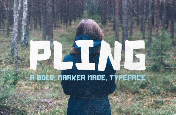 Pling - A Marker Made Typeface