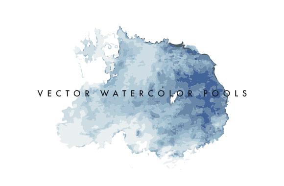 Vector Watercolor Pools