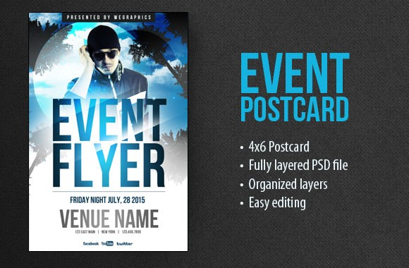 Event Postcard Flyer Template