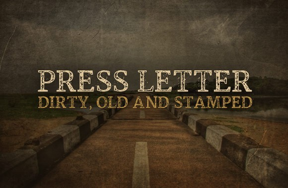 Press Letter - A Dirty Stamped Font