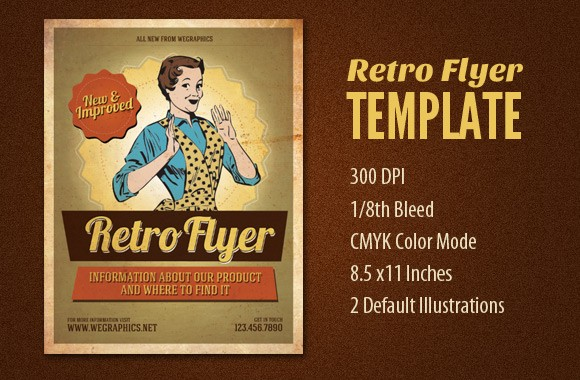 Print Ready Retro Flyer Design