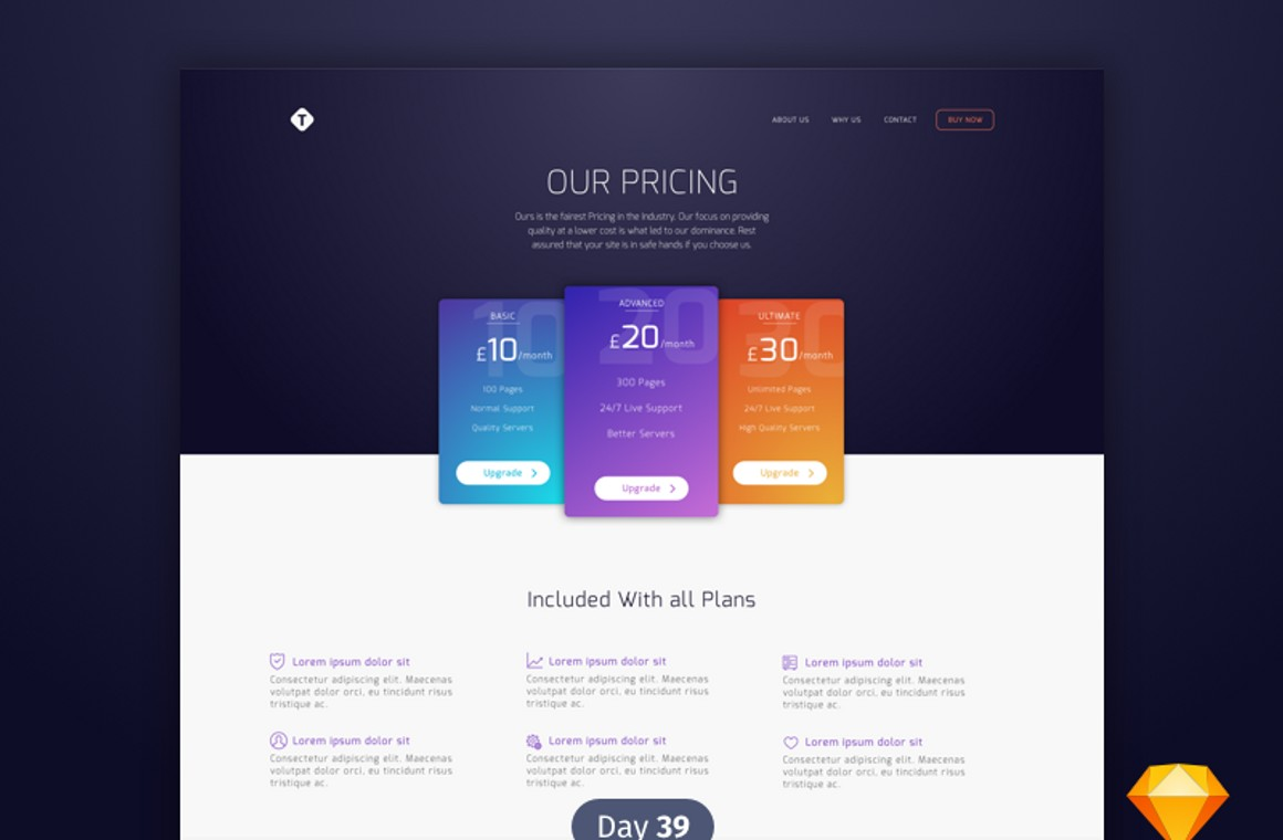 Sketch Pricing Table