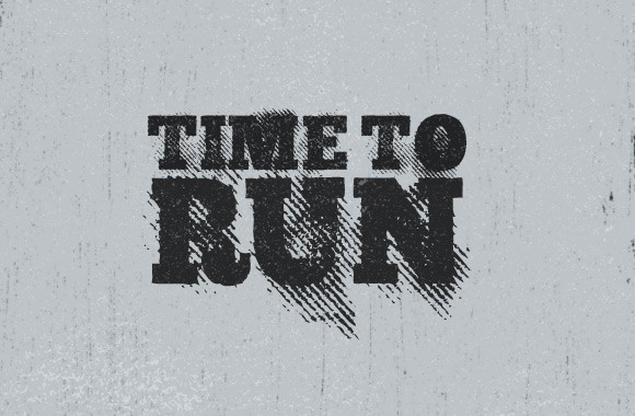 Time to Run - A Gritty Font Face