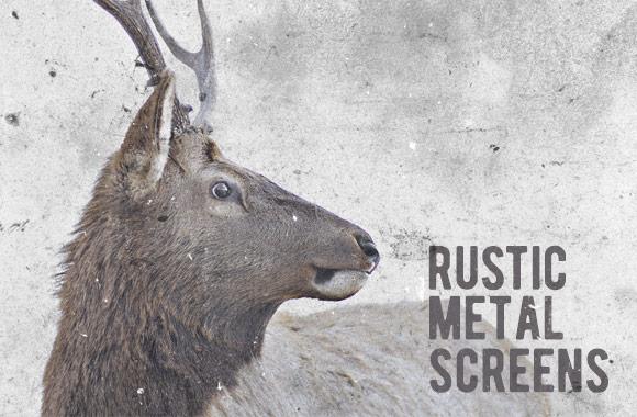 Rustic Metal Screen Textures