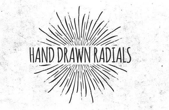 Hand Drawn Vector Radials Vol 2