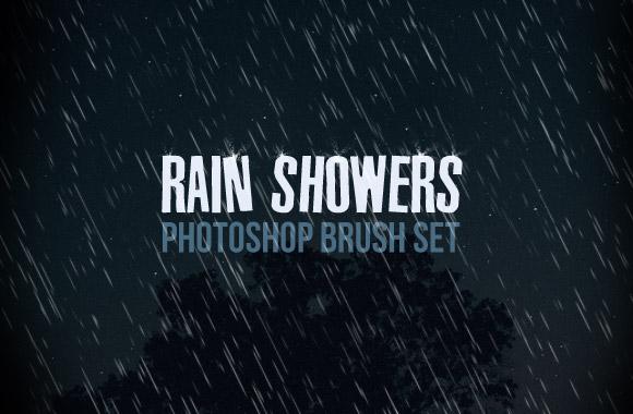 Rain Shower Photoshop Brush Set