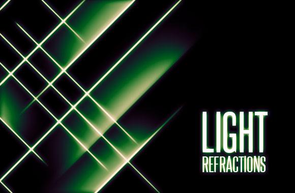Light Refractions Photoshop Brush Set