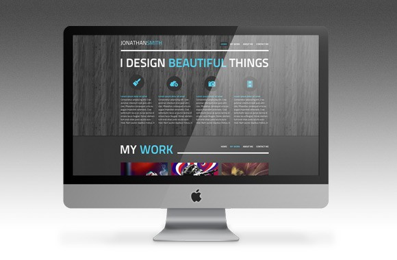 Represent - A One Page PSD Portfolio Template