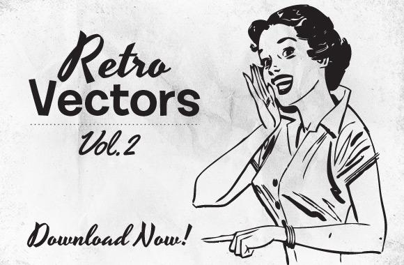 Free Retro Vectors Vol 2