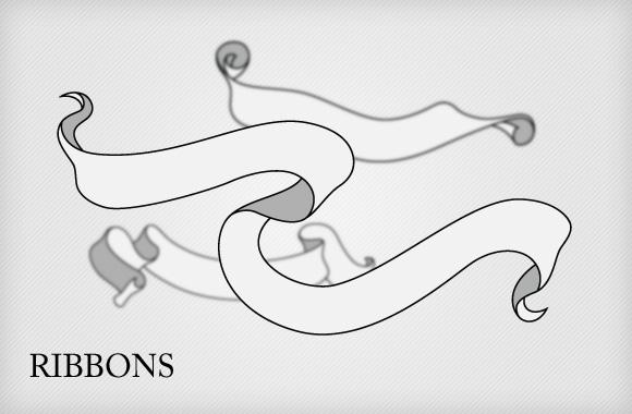 Ribbons Vector set