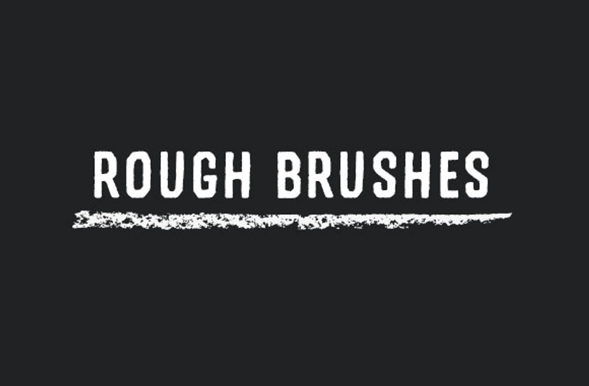 Rough Strokes - Photoshop Brush Pack - WeGraphics