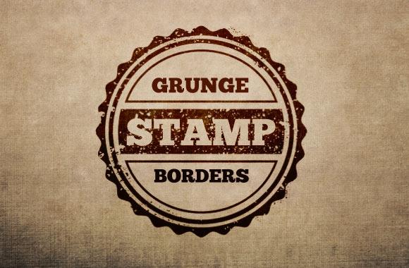 Grunge Stamp Borders Multi-Pack