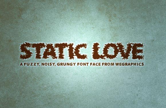 Static Love - A Noisy Font Face