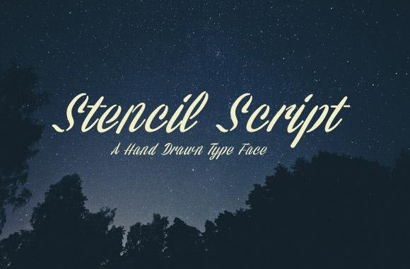 Stencil Script Font