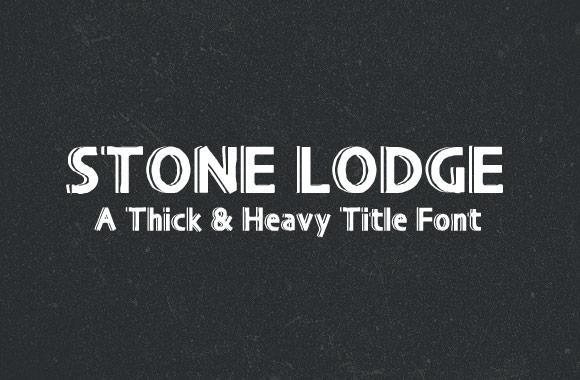 Stone Lodge - A Heavy Title Font