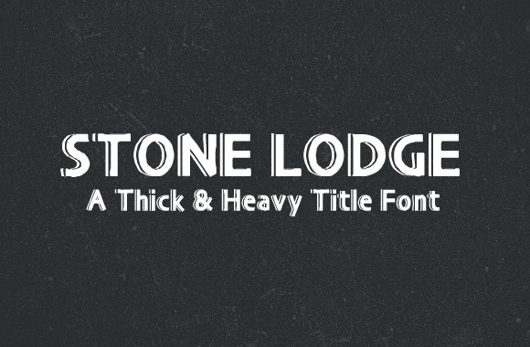 Stone Lodge - A Heavy Title Font