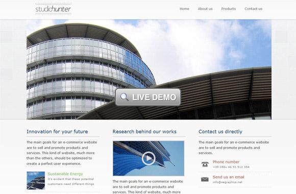 Studio Hunter, a business-corporate template