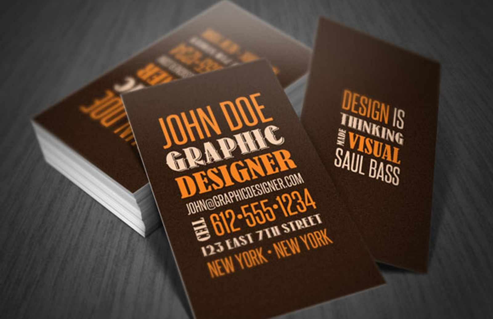 Stylish Type Business Card Template Type Slide1