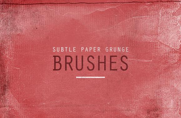 Subtle Paper Grunge Brushes