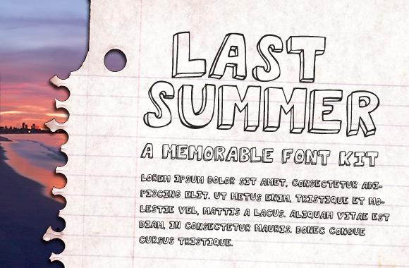 Last Summer Font Kit