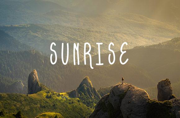 Sunrise - Free Hand Drawn Font