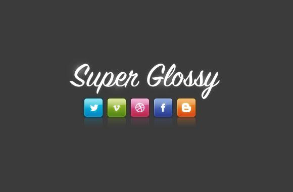 Super Glossy Social Media Icons