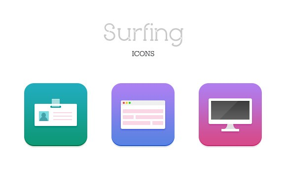Surfing Icons - Free Download