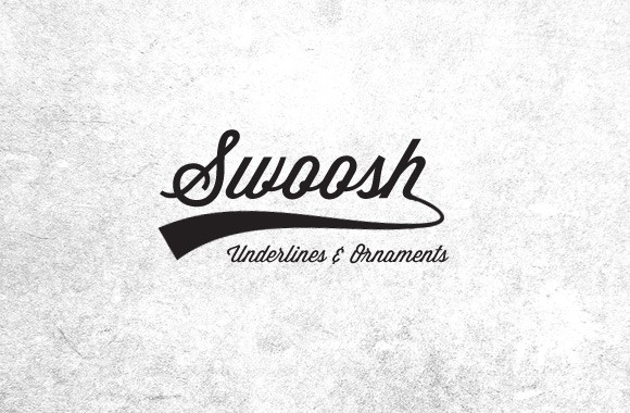 25 Vector Swooshes, Underlines and Ornaments