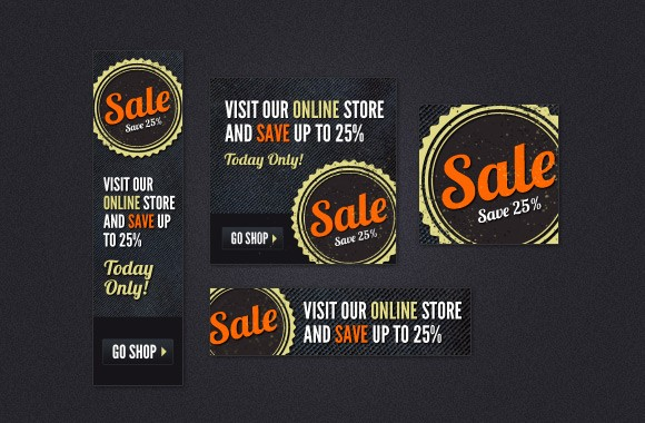 Sale Ads - Web Banner PSD Kit