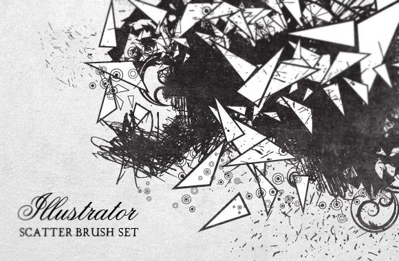 24 Illustrator Scatter Brushes