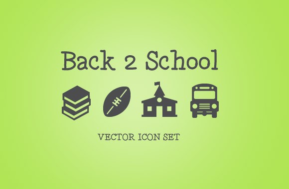 Back 2 School Vector Icons Pack