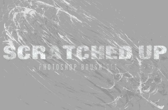Scratched Up - Photoshop Brush Set