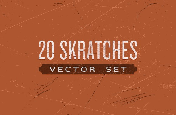 20 Scratches Vector Set
