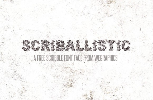 Scriballistic - A Free Scribbled Font Face