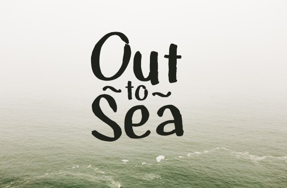 Out to Sea - Handmade Font