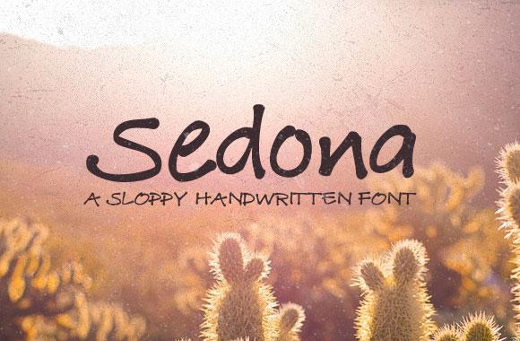 Sedona - A Sloppy Handwritten Font