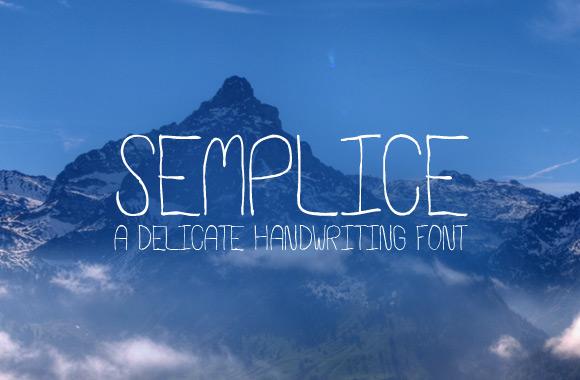 Semplice - A Delicate Handwriting Font